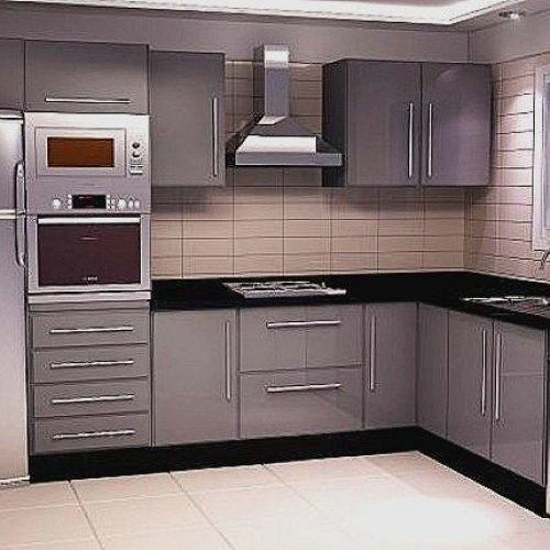 L shape Modular Kitchen in Ahmedabad